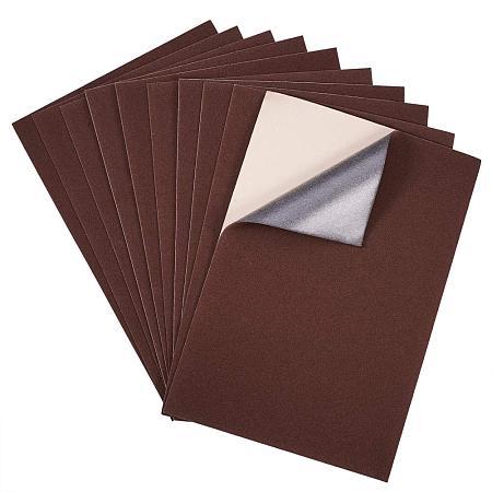 BENECREAT 20PCS Velvet (Brown) Fabric Sticky Back Adhesive Back Sheets, A4 Sheet (8.3