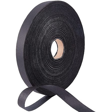 NBEADS 1 Roll 650m Natural Paper Raffia Ribbon, Handmade Paper Rattan Ribbon Black Woven Paper Ribbon for Art Craft Flower Bouquets, 0.78