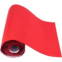 """BENECREAT 15.7"""" x 78.7"""" Red Self-Adhesive Felt Fabric Sheet Sticky Jewelry Drawer Box Liner for Costume Art and Craft Making, 1mm Thick"""