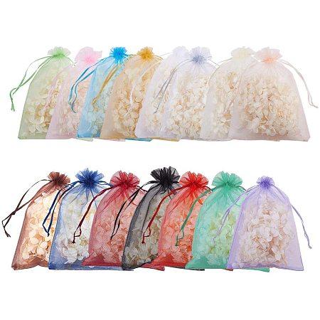 Arricraft 15 Color Large Organza Bags, 90pcs 6.7