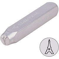 """BENECREAT 6mm 1/4"""" Metal Design Stamps(Eiffel Tower) Matte Hard Carbon Steel Punch Stamping Tool for Jewelry Leather Wood Crafting"""
