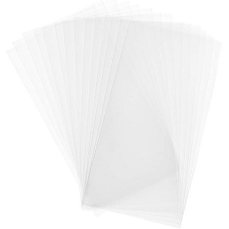 PandaHall Elite 300 pcs 6x3 inch Clear Top Open Long Flat Plastic Cellophane Candy Gift Treat Bags for Small Homemade Arts Party Favor Bags