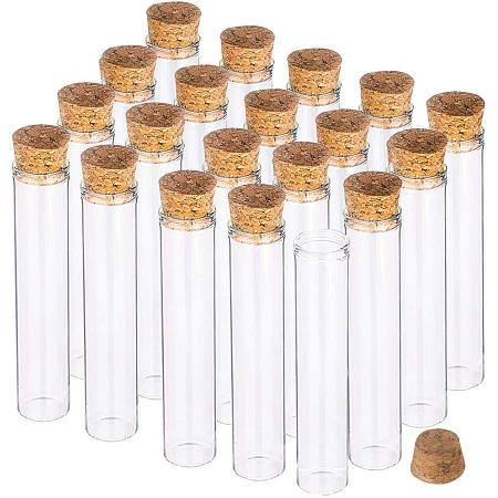 BENECREAT 25 Pack 25ml Glass Tubes Transparent Decoration Bottles with Cork Stoppers for Arts, Crafts and Other Small Projects