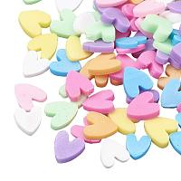 ARRICRAFT 500g Heart Shape Handmade Polymer Clay Slices Without Hole for Nail Art Decoration Slime DIY Crafts, Colorful