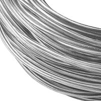 BENECREAT 9 Gauge (3mm) Transparent PVC Plastic Covered Aluminum Wire 100FT Bendable Aluminum Craft Wire for Making Clothing, Hats, Head wear, DIY Crafts