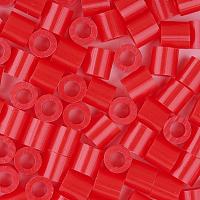 PandaHall Elite 1 Box 5mm Melt Beads PE DIY Fuse Beads Refills Perler Beads for Kids, Tube, Red, 5x5mm, Hole: 3mm; about 500pcs/box
