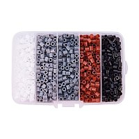 ARRICRAFT 1 Box(About 1900pcs) 5 Colors 5mm Tube Melty Beads PE DIY Fuse Beads Refills Hama Beads for Kids Craft Making - Gradual Grey Color