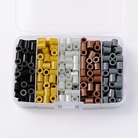 Melty Beads PE DIY Fuse Beads Refills for Kids, Tube, Mixed Color, 8.5~9x9~9.5mm; about 68pcs/compartment, 340pcs/box