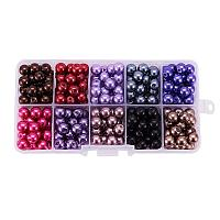 ARRICRAFT 1 Box (about 250pcs) 10 Color Glass Pearl Round Beads Assortment Lot for Jewelry Making, 8mm, Hole: 1mm - Mixed Color 2