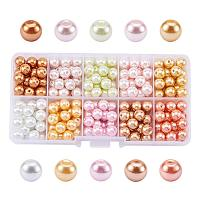 ARRICRAFT 1 Box (about 250pcs) 10 Color Glass Pearl Round Beads Assortment Lot for Jewelry Making, 8mm, Hole: 1mm - Mixed Color 3