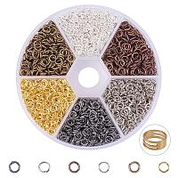 ARRICRAFT About 3300 Pcs Iron Open Jump Rings Unsoldered Diameter 4mm Wire 21-Gauge 6 Colors for Jewelry Findings