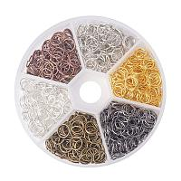 ARRICRAFT 1 Box (about 1300PCS) Assorted 6 Colors Open Iron Jump Rings for jewelry Making Accessories Nickel Free, 7x0.7mm