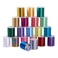 ARRICRAFT 20 Rolls 20 Colors Embroidery Thread Sewing Machine Thread Kit Spool for Embroidery and Decorative Sewing, 55m Per Roll