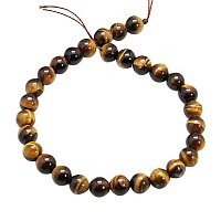 """ARRICRAFT 5 Strands 8"""" 4mm Round Natural Tiger Eye Beads Strands, Round, 4mm, About 45pcs/Strand"""