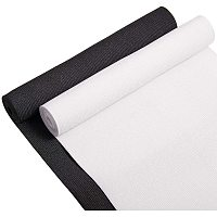BENECREAT 8-Inch Wide by 2-Yard Flat Elastic Black and White Heavy Stretch Knit for Sewing Project