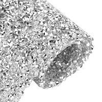 "BENECREAT 9.5"" x 15.5"" Crystal Epoxy Rhinestone Sheet Hotfix Rhinestone Sheet Banding Bridal Rhinestone for Dresses Shoes with 3mm Rhinestones"