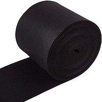 BENECREAT 19.5FTx5.5 Felt Fabric Craft Felt Fabric Roll Black Nonwoven Felt Roll for DIY Craft Patchwork Sewing, 3mm Thick