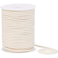 BENECREAT 4mm 45 Yard Cotton Cord Trim Piping String Off-White Crafts Welt Cord with Spool for DIY Crafts, Wall Hangings, Plant Hangers, Gift Wrapping, Weaving Basketry and Tapestry