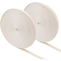"""NBEADS 50M/Roll 2 Rolls Cotton Webbing, 12mm(1/2"""") Wide Herringbone Cotton Tape Ribbons Flat Cords for Sewing Knitting DIY Making"""