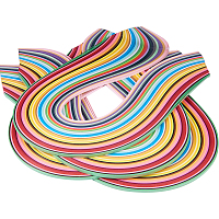 PandaHall Elite 1440 Strips 36 Colors Quilling Paper Strips Quilling Art Strips 5 mm Width 52 cm Length