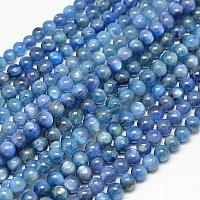 "NBEADS Natural Kyanite/Cyanite/Disthene Round Beads Strands, 6mm, Hole: 1mm; about 64pcs/strand, 15.7"""