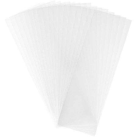 PandaHall Elite 500 pcs 9x3 inch Clear Top Open Long Flat Plastic Cellophane Candy Gift Treat Bags for Small Homemade Arts Party Favor Bags