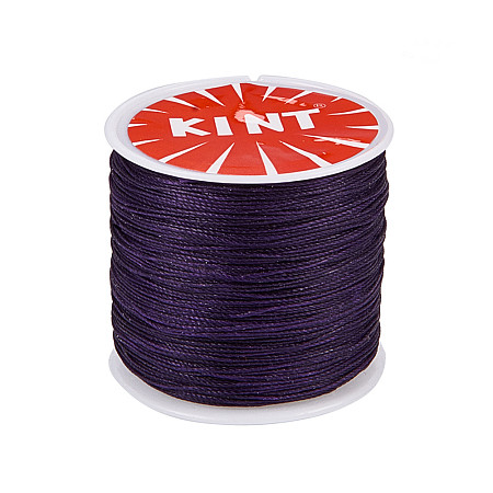 PandaHall Elite 1 Roll 0.5mm Round Waxed Cotton Cord Thread Beading String 116 Yards per Roll Spool for Jewelry Making and Macrame Supplies Purple