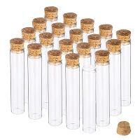 BENECREAT 20 Pack 30ml Glass Tubes Transparent Decoration Bottles with Cork Stoppers for Arts, Crafts and Other Small Projects