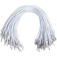 """NBEADS 200 Pcs Elastic Barbed Cord, 28cm(11"""")/Piece White Stretch Loop Band with Metal Ends for Masks Hats DIY Sewing Crafts Making"""
