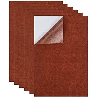 """BENECREAT 20PCS A4 Size Coconut Brown Self-Adhesive Felt Fabric Sheet 8.3"""" x 11.8"""" Sticky Back Sheets for Art and Craft Making, Jewelry Box Liner, 0.8mm Thick"""