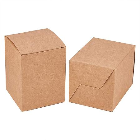 BENECREAT 60PCS Gift Boxes Brown Paper Boxes Party Favor Boxes 2.5 x 2.5 x 3 Inches with Lids for Gift Wrapping, Wedding Party Favors