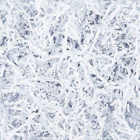 NBEADS 1/2 LB Crinkle Cut Paper Shred Filler, White Raffia Kraft Shredded Paper for Gift Wrapping & Basket Filling