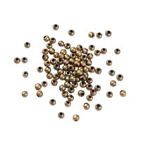 NBEADS 10000Pcs Iron Spacer Beads, Nickel Free, Round, Antique Bronze Color, About 3.2mm in Diameter, 3mm Thick, Hole: 1.2mm