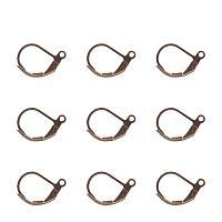 ARRICRAFT 500PCS Antique Bronze Brass Lever Back Hoop Earrings Lead Free & Cadmium Free & Nickel Free Size 10x15mm