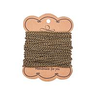 ARRICRAFT 10m(32.80 feet) Antique Bronze Color Iron Twist Chains Lead Free and Nickel Free for Necklace Jewelry Accessories DIY Making-5x3x0.8mm