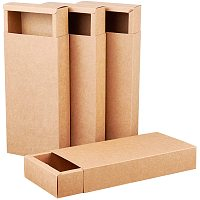 BENECREAT 10 Pack Kraft Paper Drawer Box 24x12x4cm Brown Soap Jewelry Candy Snacks Boxes Small Gift Boxes for Wedding Party Favors and Gift Wrapping