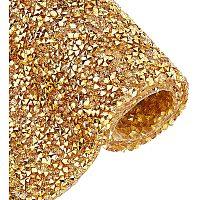 "BENECREAT 9.5"" x 15.5"" Self Adhesive Gold Diamond Resin Rhinestones Sheet for Crafts, Gift Decoration, Phone Decoration, Event Embellishments"