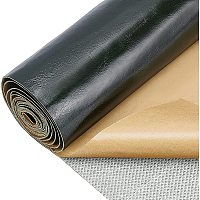 BENECREAT 12x54 Inches(30x137cm) Self-adhesive Faux Leather Repair Subsidies Sofa Couch Patches for Car Seat Furniture - Dark Olive Green, 1mm Thick