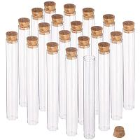 BENECREAT 15 Pack 40ml Glass Tubes Transparent Decoration Bottles with Cork Stoppers for Arts, Crafts and Other Small Projects