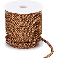 PandaHall Elite Twisted Rope Trim Thread, 5mm Twisted Cord 59 Feet Decorative Rope for DIY, Crafts, School Projects, Home Decors, Curtain Tieback, Honor Cord (Saddle Brown)