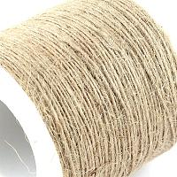 NBEADS 1 Roll of 1 Ply 1mm Jute Twine Natural Garden Twine for Floristry, Gifts, DIY Arts & Crafts, Decoration and Recycling; About 100m/roll