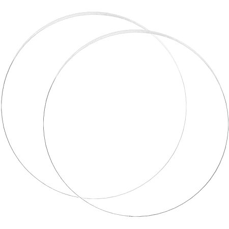 BENECREAT 2PCS 10 Inch Clear Acrylic Sheet Round Circle Dis Acrylic Sheet for Decoration, Office Sign, Coasters and Other DIY Project
