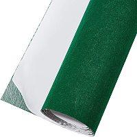 "BENECREAT 15.7"" x 78.7"" Green Self-Adhesive Felt Fabric Shelf Liner for DIY Costume Making and Jewelry Drawer Box Fabric Peel Stick, 1mm Thick"