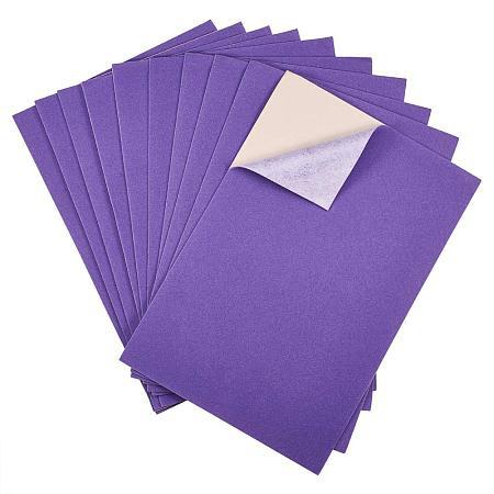BENECREAT 20PCS Velvet (BlueViolet) Fabric Sticky Back Adhesive Back Sheets, A4 Sheet (8.3