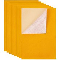 """BENECREAT 20PCS 8.3"""" x 11.8"""" Velvet Adhesive Back Sheet Jewelry Box Liner Fabric, Durable and Water Resistant for Art and Craft Making, Yellow"""