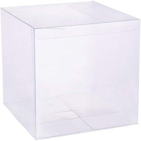 BENECREAT 10PCS Clear Wedding Favour Boxes 6.5x6.5x6.5 Square PVC Transparent Gift Boxes for Candy Chocolate Valentine