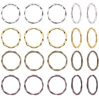 PandaHall Elite 200pcs 4 Colors Alloy Linking Rings Tibetan Style Circle Frames Charms Links Jewelry Connectors for Necklaces Bracelets Jewelry Dangle Earring Making
