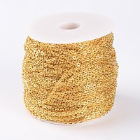 NBEADS 100m Iron Cross Chains, Unwelded, Oval, Come On Reel, Popular for Jewelry Making, Important Decoration, Lead Free, Golden, 3x2x0.6mm; 100m/roll