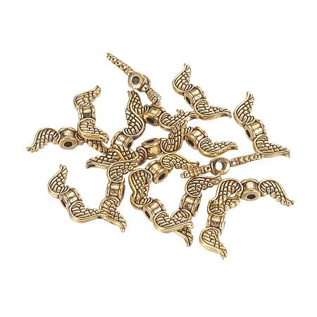 ARRICRAFT About 50pcs Antique Golden Tibetan Style Beads Jewelry Findings Accessories for Bracelet Necklace Jewelry Making Lead Free & Cadmium Free, 18x7x4mm, Hole: 1mm