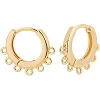 BENECREAT 10PCS 18K Gold Plated Round Hoop Earrings Endless Round Earring Hoops for DIY Jewelry Making